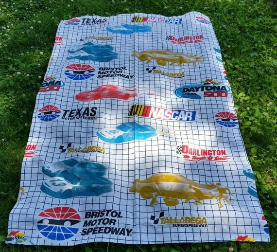 vtg nascar car racing toddler bed sheet by hipster2hipster