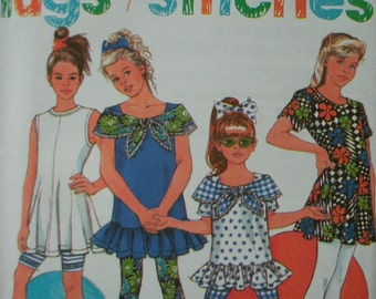 Girls Leggings in 2 Lengths and Tops Size 12-14 Stretch Knits Only Simplicity Hugs + Stitches Pattern 7728 UNCUT PATTERN Lovely Condition