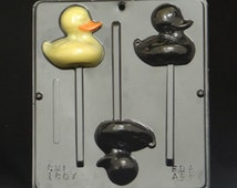 Duck ( Rubber Duckie ) Lollipop Chocolate Candy Mold Easter 1807
