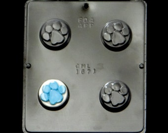 Paw Print Oreo Cookie Chocolate Candy Mold Baby Shower Blueu0027s Clues Theme  1671