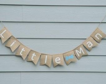 Little Man banner - 1st birthday 2nd birthday banner bow tie banner little man decoration