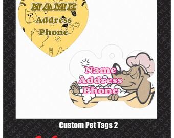 Bone Shaped Pet Tag