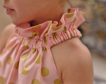 Bella Collar Top or Dress sizes 3months to - 12 years Pdf Pattern  All Sizes Included
