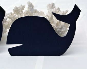 Navy Blue Nautical Die Cut Whale - Two Sizes Available