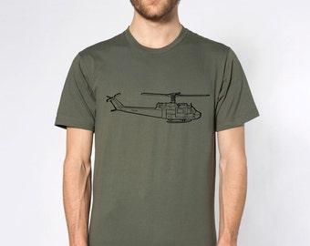 KillerBeeMoto: Huey Helicopter Short & Long Sleeve Shirts Cartoon Style