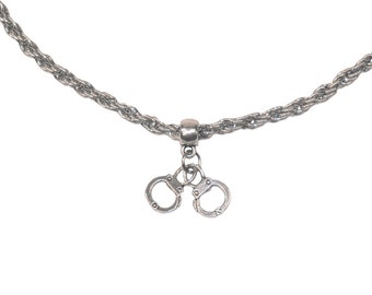 Collar Necklace SM Chain Fetish Handcuffs BDSM Master Slave Sub Dom Top Bottom 53003