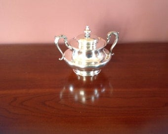 Reed and Barton Vintage Silver Plate Sugar Bowl and Lid