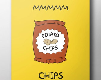 Mmmm Chips - Simpsons Poster