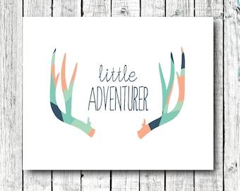 Nursery Printable, little adventurer, tribal decor, nursery art, baby boy, printable art, size 8x10 #331