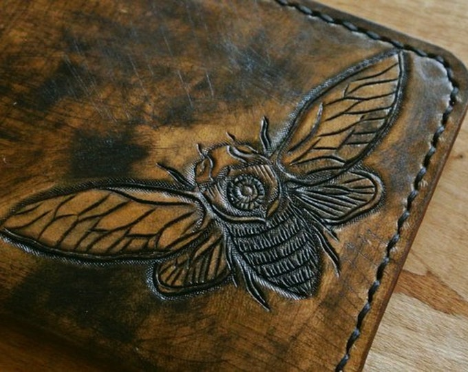 Leather Passport Cover/Leather passport/Passport case/Handmade cover/Gift passport cover/Custom Gift/Cicada/Vintage style/Distress