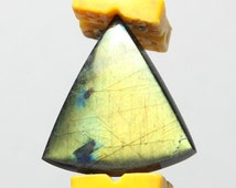 Spectrolite Cabochon - Bright Multi-Colored Gem - Highly Reflective - 23.2mm x 24.4mm x 3.7mm - 12.6ct. - Both Sides Polished - Amazing Gem!