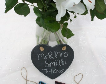Set of Three Wedding Slate and Blackboard Signs