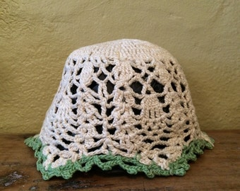 Antique Hand Made Baby Knit Cap Infant Hat Child's Hat