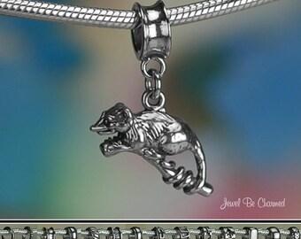 Sterling Silver Possum Charm or European Style Charm Bracelet Opossum