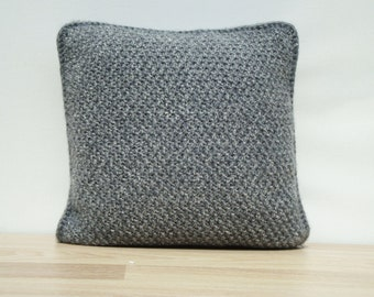 Knitting Pillow, Grey Pillow, Home Decor, Decorative Pillows, Knit Home Decor, Cable Knit Pillows, Knit Pillow Cover, Housewares