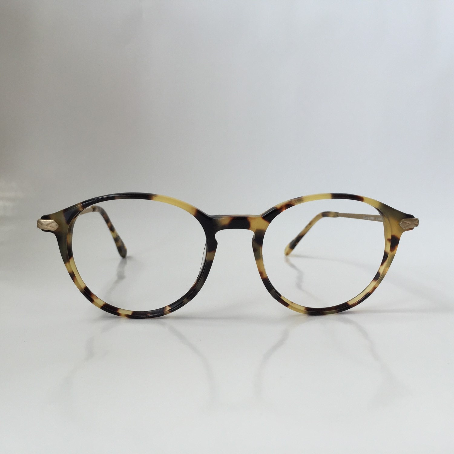 Eyeglass Frames Without Temples : Oversized vintage pantos eyeglasses round tortoise by ...