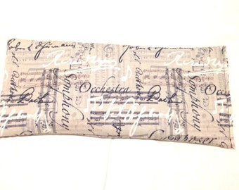 Hot Cold Pack, Herbal Pack, Heat Wrap, Organic, Flax Seed, Microwave Therapy, Heating Pad, Warming Pillow, Herbal, Ice Pack, Music Notes
