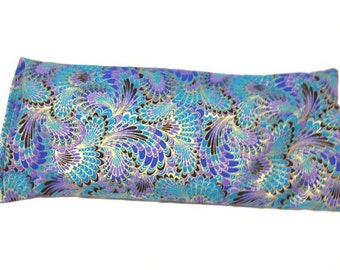 Hot Cold Pack, Herbal Pack, Heat Wrap, Organic, Flax Seed, Microwave Therapy, Heating Pad, Warming Pillow, Herbal, Ice Pack, Peacock