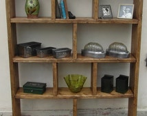 Country Rustic Pine Book Shelves