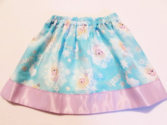 Frozen skirt/toddler skirt/ toddler frozen skirt/satin edge skirt/Frozen Birthday/Frozen gift/Elsa skirt