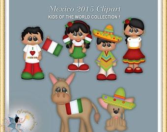Mexico Clipart, Cinco de Mayo, Kids of the World 2015