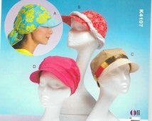 Sewing Pattern - Hats Pattern in Four Views Kwik Sew #K4107