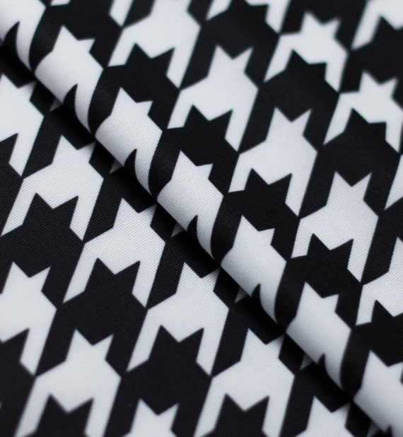 20 Yards 20 Meters Stretch Fabric Houndstooth Print Fabric