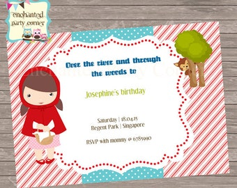 Red Riding Hood Invite
