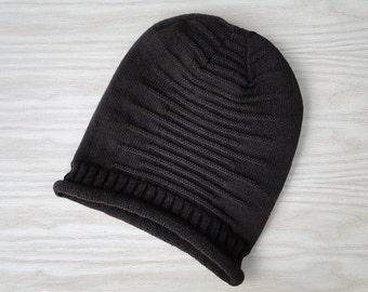 Wool hat, slouchy beanie hat