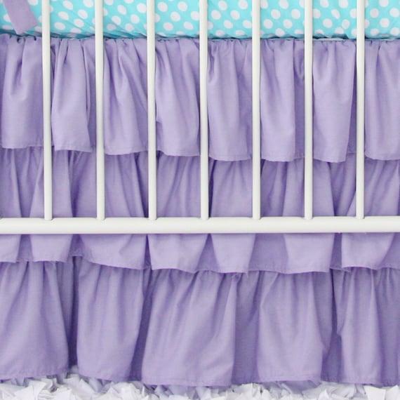 Purple Crib Skirt 28