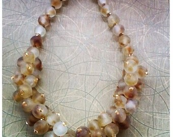 2 Toned African Glassbeads Necklace (Limited Edition)