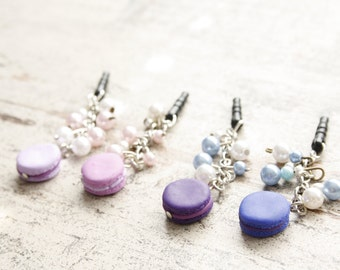 Macaron Dust-Plug for your cell phone in Dark Blue