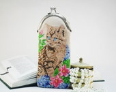 Leather Spectacle Cases Embroidered pouch for glasses Glasses Case Embroidered Leather