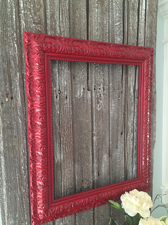 grand cadre baroque peint cadre photo frame rouge mariage. Black Bedroom Furniture Sets. Home Design Ideas