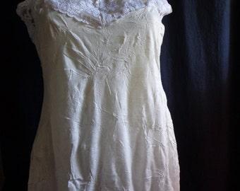 Vintage top cami blouse cream lace bust 34