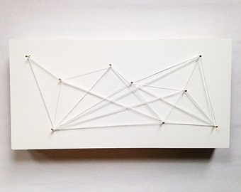 Everything's Connected - string sculpture wall art
