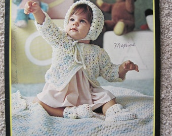 Knit and Crochet Pattern Book - Bulky Baby Garments - Brunswick #7732 - Vintage