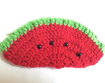 Crochet Watermelon Pencil Case