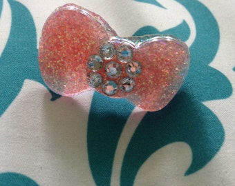 Bedazzled Bow ring