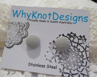 ReProduction Vintage Button EARRINGS with Stainless Steel Posts.