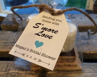 S'More Label, S'More Favors, Wedding Favors, S'More Bridal Shower Labels, Party Favors, Favors