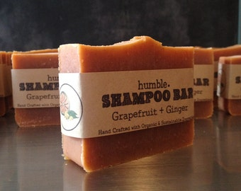 Organic Shampoo Bar Grapefruit + Ginger
