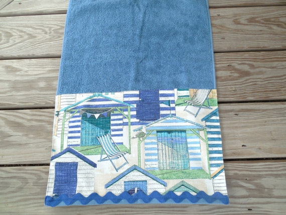 Beach Hut Hand Towels
