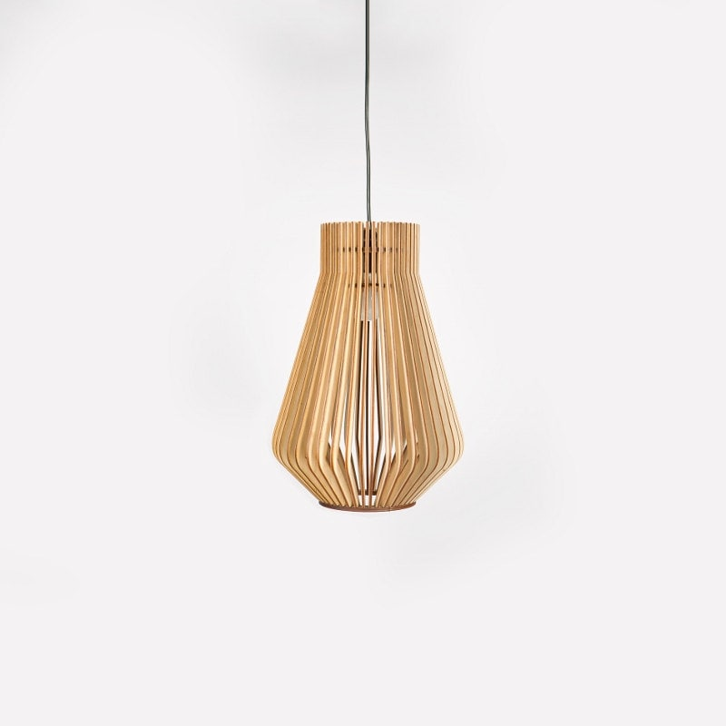 scandinavian style wooden hanging lamp lighting by boteh