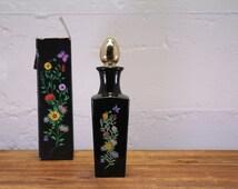 Vintage Perfume Bottle - Bud Vase Avon Topaz Cologne 6 oz (Full Bottle)
