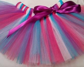 Hot Pink Purple Turquoise White Tutu, infant tutu, baby tutu, newborn tutu, toddler tutu, 1st birthday tutu, birthday tutu, preemie tutu