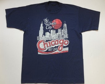 Chicago The Windy City T-Shirt Vintage 1990s L