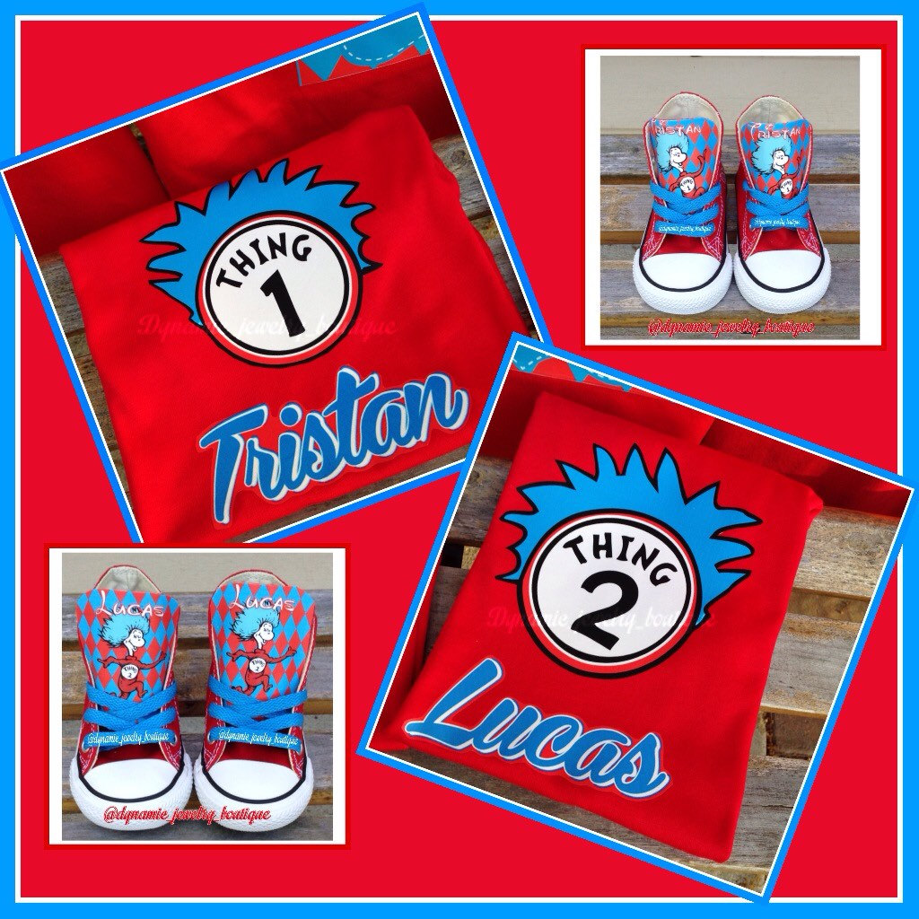 Custom Thing 1 Thing 2 Shirts Thing Birthday Shirt Twin
