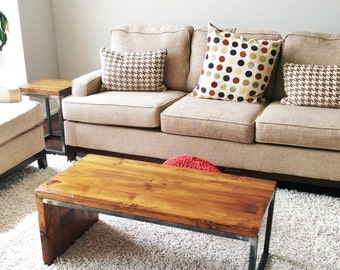 Reclaimed Wood Coffee Table: Cosgrove Design - Modern Looking Solid Reclaimed Wood and Steel Table