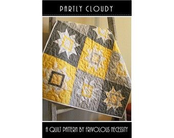 Pattern - Partly Cloudy Quilt Pattern by Frivolous Necessity
